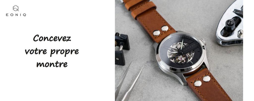 concevez votre montre haut de gamme, eoniq - personnalisation de montres, montres à personnaliser