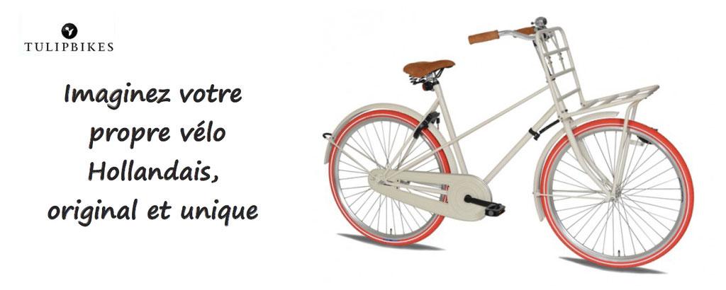 Personnalisation vélo Hollandais : un vrai vélo fabriqué en Hollande : plusieurs formes, plusieurs couleurs, faites vous plaisir