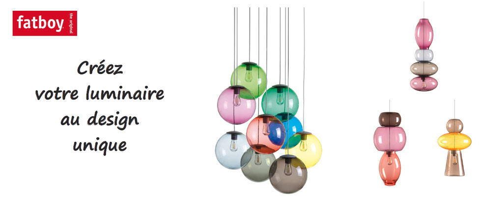 fatboy, personnalisation de luminaires, eclairages personnalisés ; spheremaker, bolleke, transloetje, des lampes personnalisables