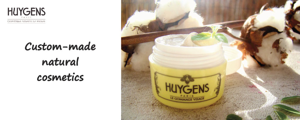 huygens, custom made natural cosmetic, made in france, customization of beauty cream