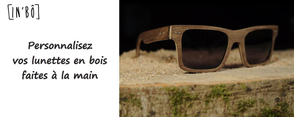 Inbo, personnalisation de lunettes en bois, faites à la main, artisanalement