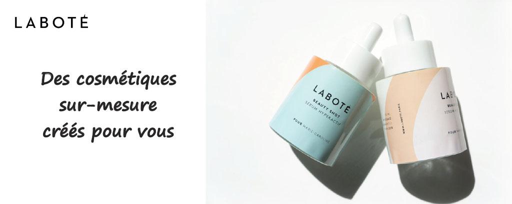 Labote Paris, des produits cosmétiques sur -mesure, créés par vous ; cosmétique personnalisable, produit à personnaliser