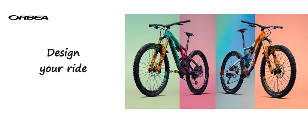 Orbea, design your ride, custom your bikes, road bikes, mountain bikes. Customization