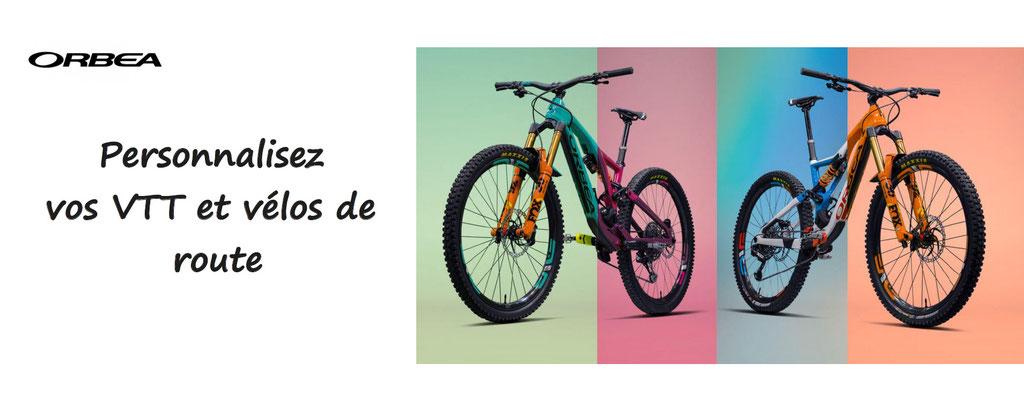 Orbea, design your ride, personnalisation de VTT et vélo. Vélos et VTT à personnaliser, haut de gamme