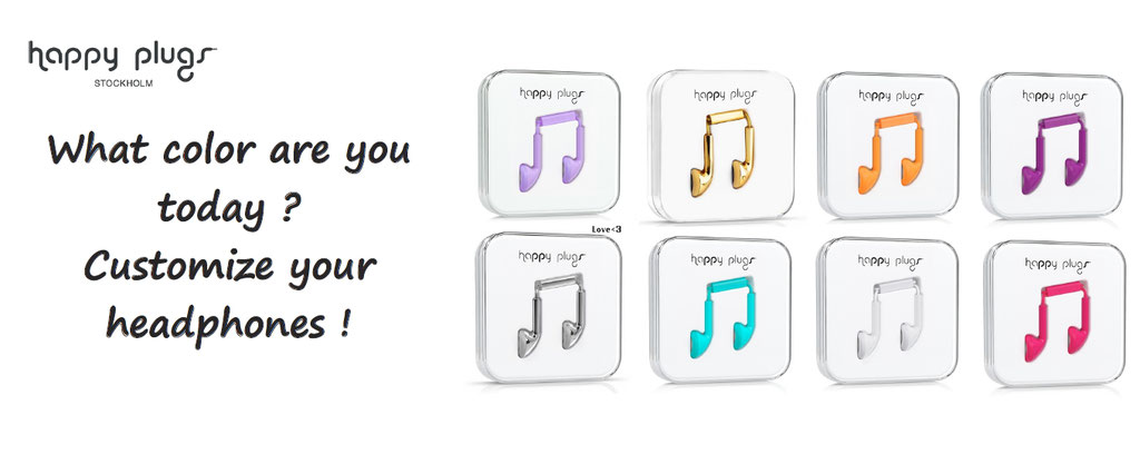Happy plugs headphones customized customisation, choose your color