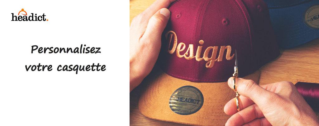 headict, personnalisation de casquettes, bonnets, chapeaux. Casquettes à personnaliser, broderie, france