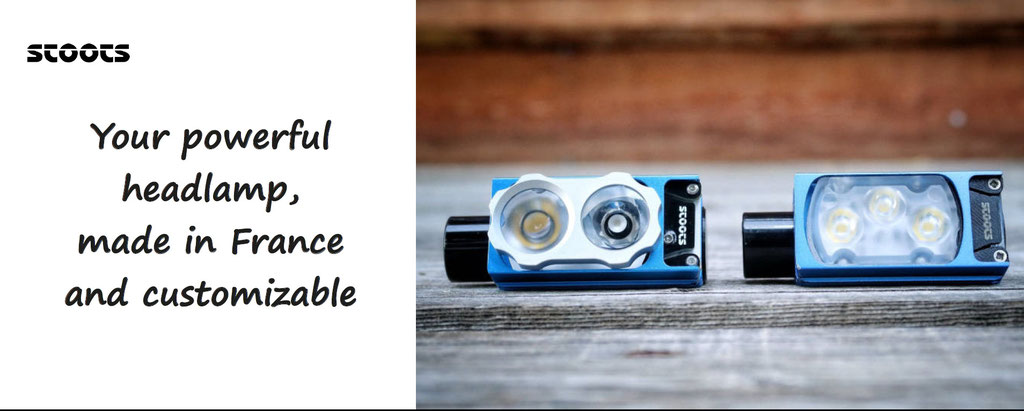 Powerful headlamp, to customize, made in France. Custom your headlamp dediacated to Trail - Stoots