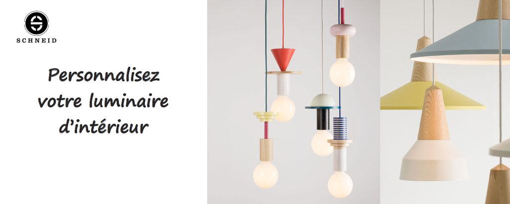 Junit, Eikon, lampes personnalisables de Schneid - personnalisation éclairages d'intérieur