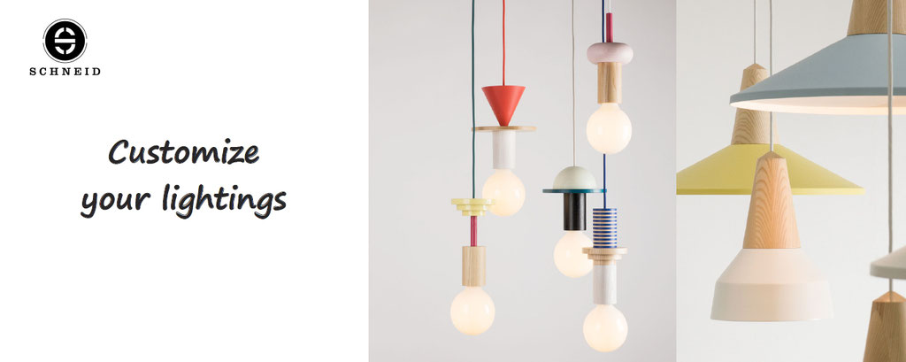 Schneid : customize your lamp and lighting, your junit and eikon lights customization