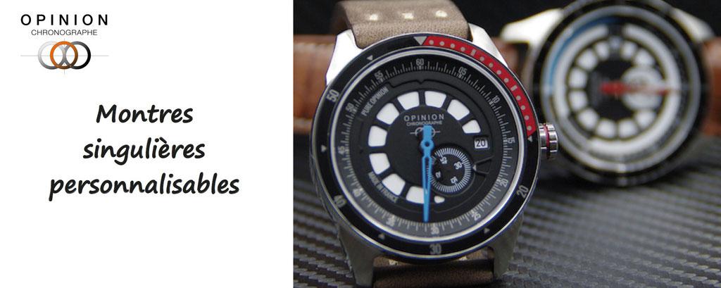 opinion chronographe - montres haut de gamme personnalisables - personnalisation de montres de qualité. Montres à personnaliser.