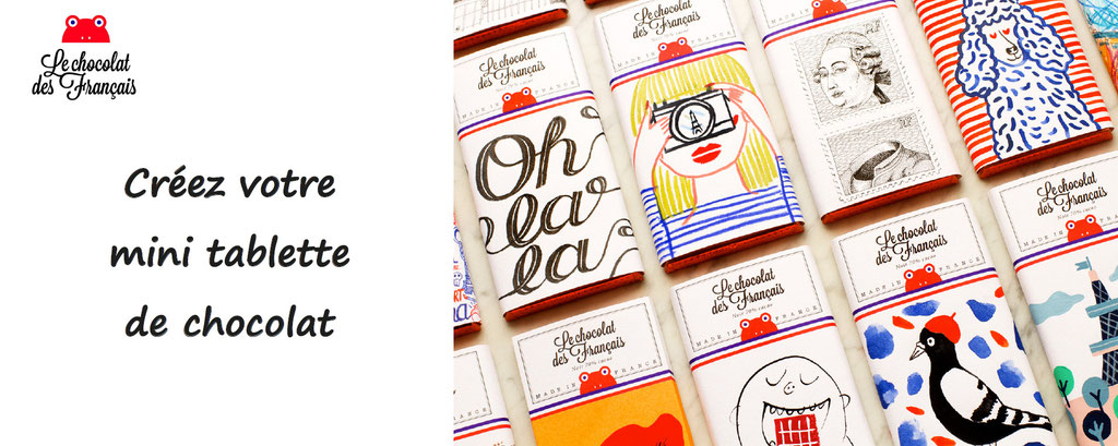 chocolat des français, personnalisation d'une tablette de chocolat. Tablette personnalisée et gourmande