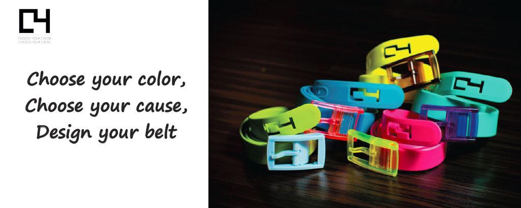 C4belts, customisation customization colorful funny belts personalization