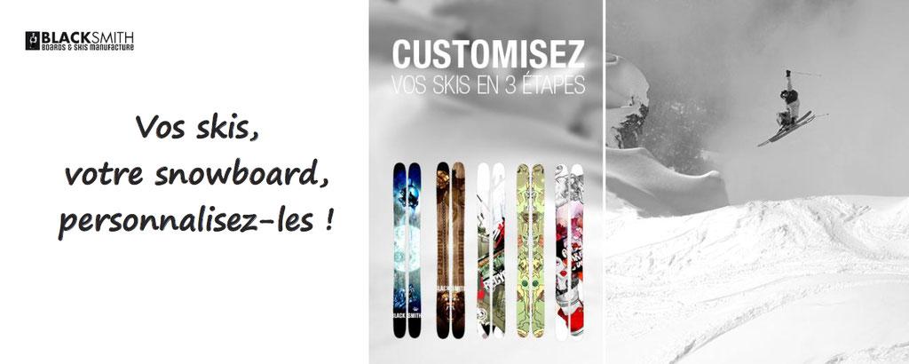 blacksmith personnalisation ski et snowboard personnalisables
