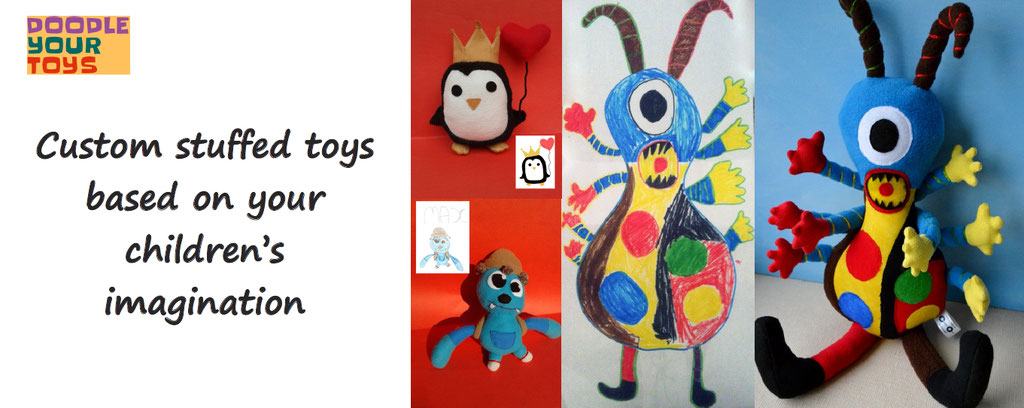 doodle your toys, customise plushes, from drawing to plushes, personalization