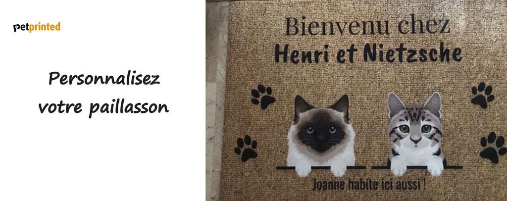 petprinted, personnalisez vos paillassons, plaques de portes, mugs, à l'effigie de vos animaux.