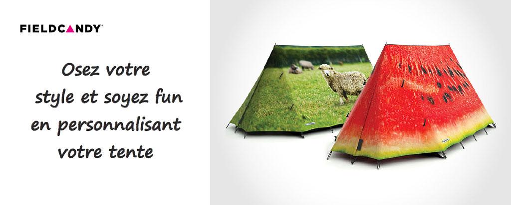 Personnalisation de tentes originales et funs, résistantes aux conditions extrêmes, elles apporteront de la couleur à vos quotidiens