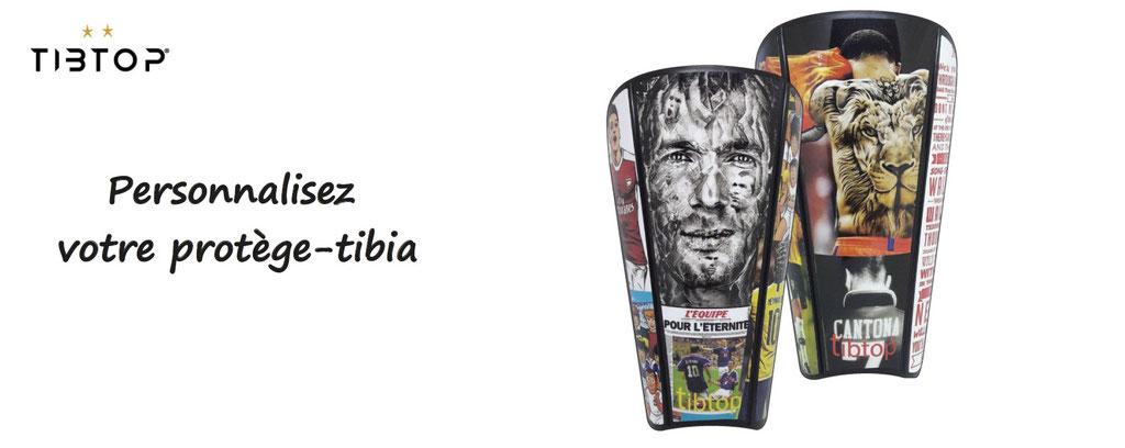 tibtop, protege tibia personnalisé, accessoires de foot à personnaliser, personnalisation de protèges tibias de football