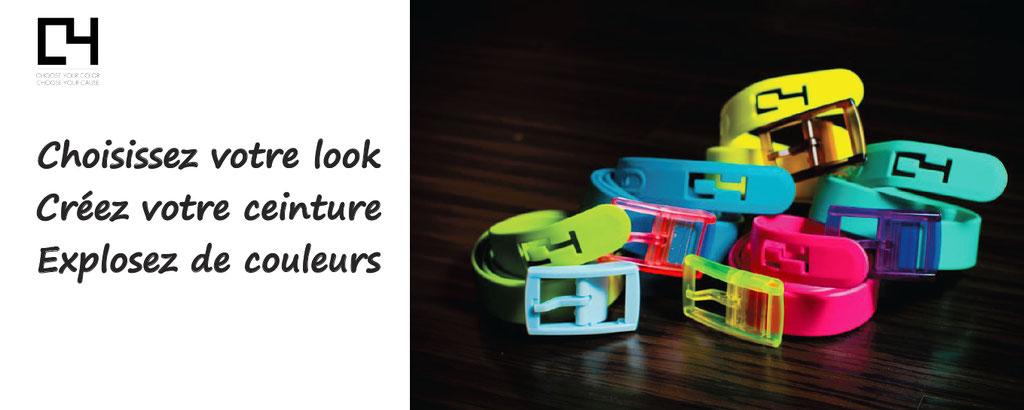 C4belts personnalisation ceintures colorees fun