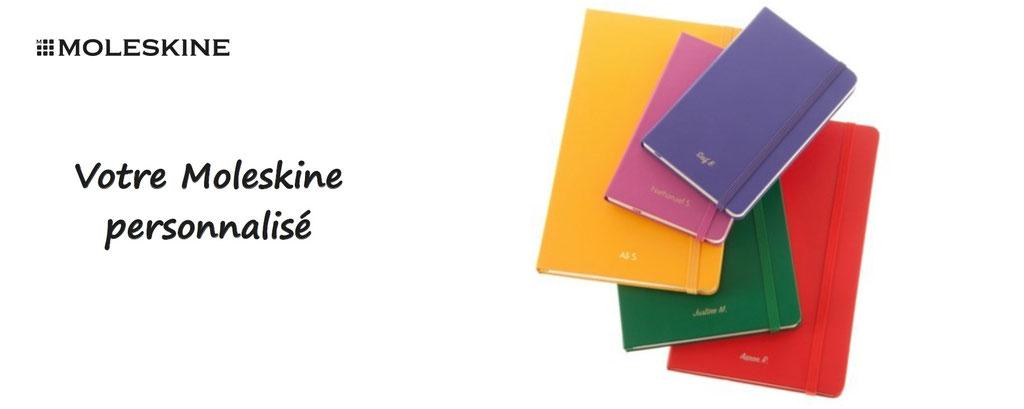 carnet moleskine à personnaliser - personnalisation d'un moleskine - carnet moleskine personnalisable
