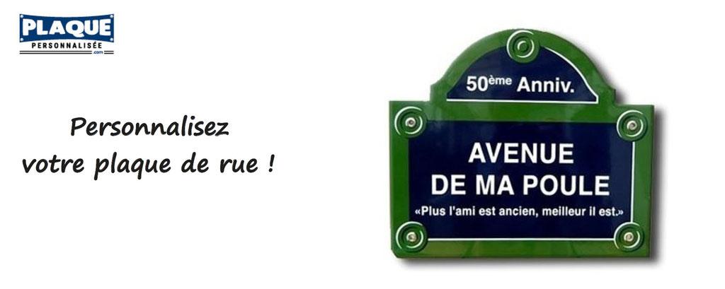 plaque de rue personnalisée ; plaques personnalisables, plaques de rue, cadeau, émaillées, pour particuliers et professionnels