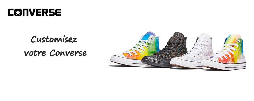 Personnalisation de votre Converse : à produit unique, goût unique : choisissez votre converse, vos couleurs et votre basket sera unique