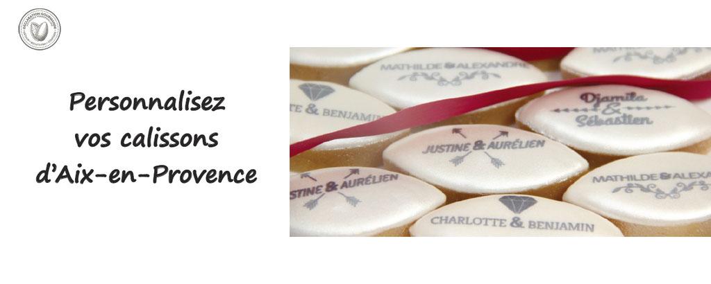 Personnalisation de calissons, de gourmandises, declaration gourmande - calissons d'aix en provence personnalisés