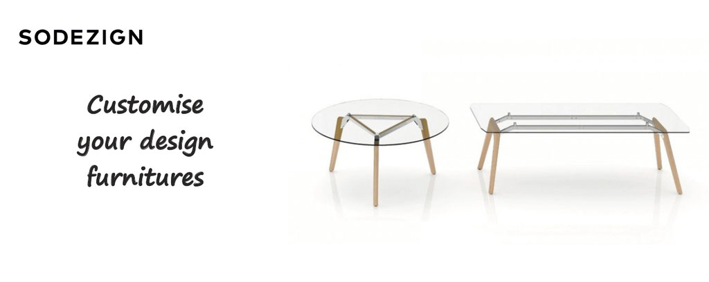 Sodezign, personalize and customize your furnitures : sofa, chairs, tables, customisation of design furnitures