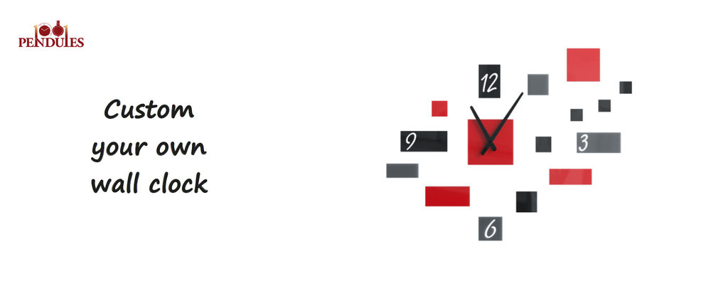 custom your own wall clock. Customize your clock