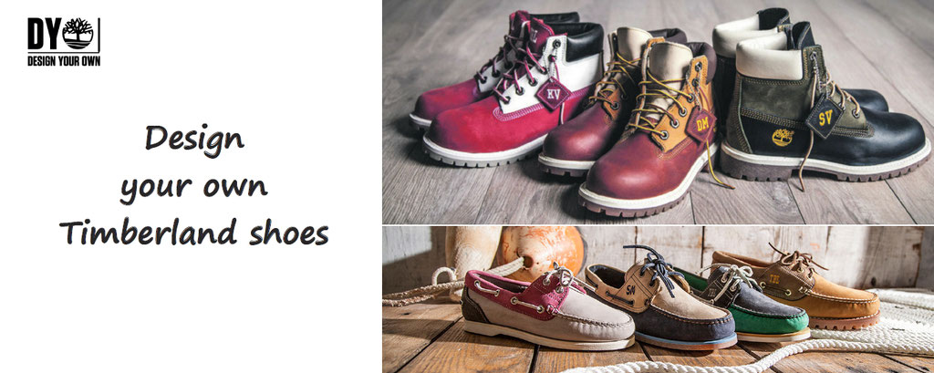 Design your own Timberland boots and shoes - customisation and personalisation of Timberland products