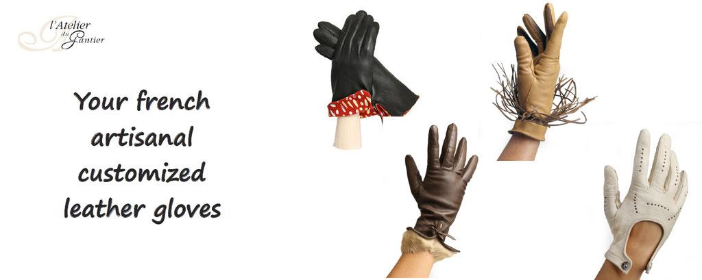 customisation leather gloves french artisanal customized l'atelier du gantier