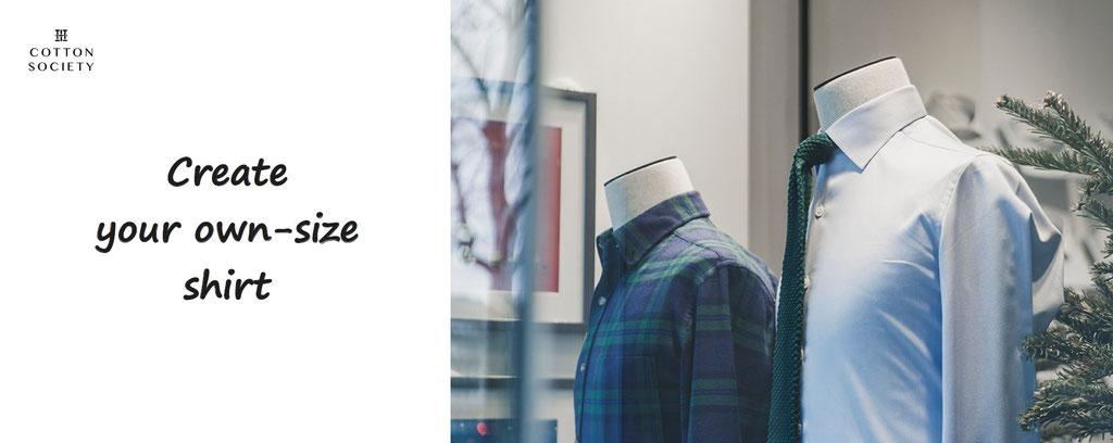 cotton society - create your own size shirt - shirt customization