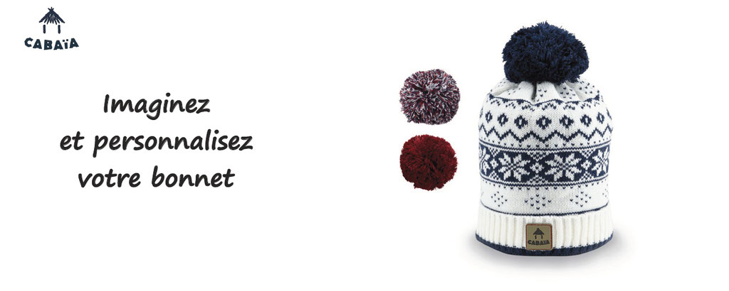 Cabaia, personnalisation de bonnets colorés - createur d'accessoires et de bonnets personnalisés