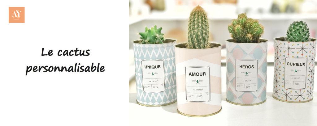 Ay cactus : le cactus à personnaliser, personnalisation de cactus, cadeau original, le cactus personnalisable