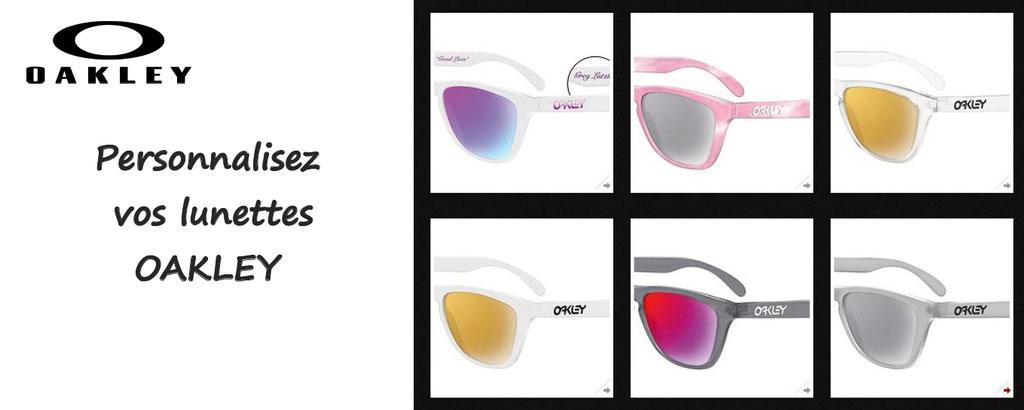 Personnalisation lunettes de soleil Oakley : des milliers de configurations : couleurs, verres, marquage, regardez le monde à travers vos lunettes