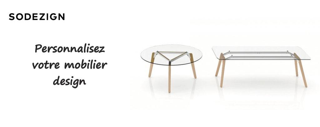 Sodesign, personnalisation de mobilier design : table, fauteuil, canapé, du mobilier chic et personnalisable