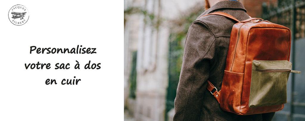 personnalisation de sac à dos en cuir de qualité, jacques silbert - bagagerie cuir à personnaliser