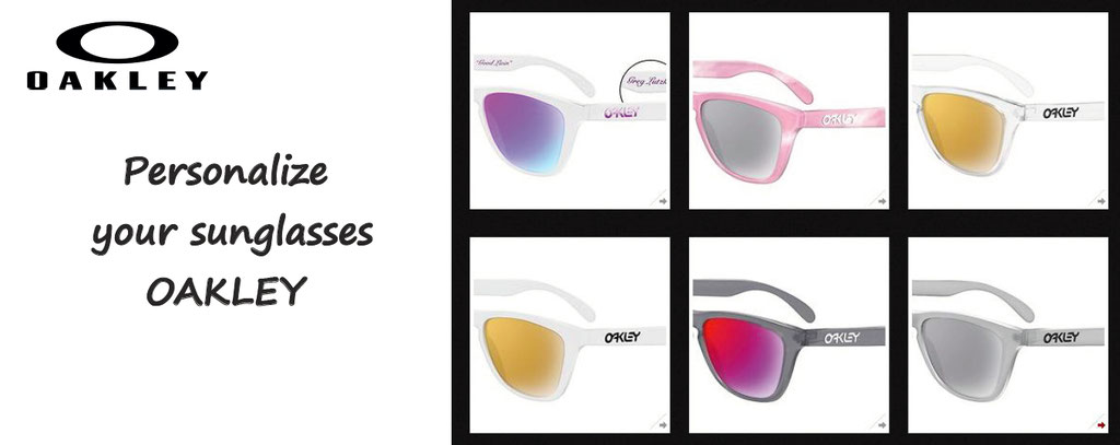 customise your Oakley sunglasses - personalize your oakey sunglasses