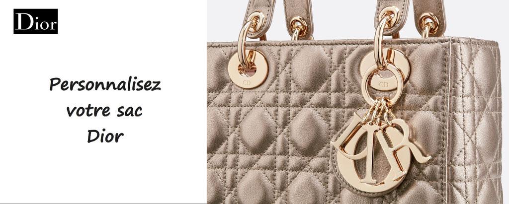 sac ABC dior personnalisé, haute couture. Sac à personnaliser Dior - personnalisation en ligne