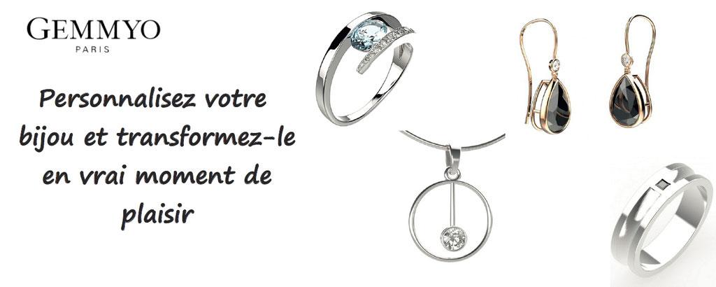 Personnalisation de bijoux : des milliers de possibilités de bijoux, bracelets, colliers, boucles d'oreilles, bagues pour homme ou pour femmes