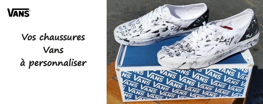 chaussures vans à personnaliser - baskets vans personnalisables