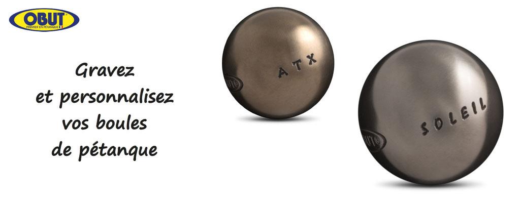 Obut, boules de pétanque personnalisables - boules à personnaliser, personnalisation de boules obut