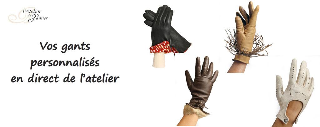 gants personnalisables l'atelier du gantier, artisan, france millau, personnalisation gant