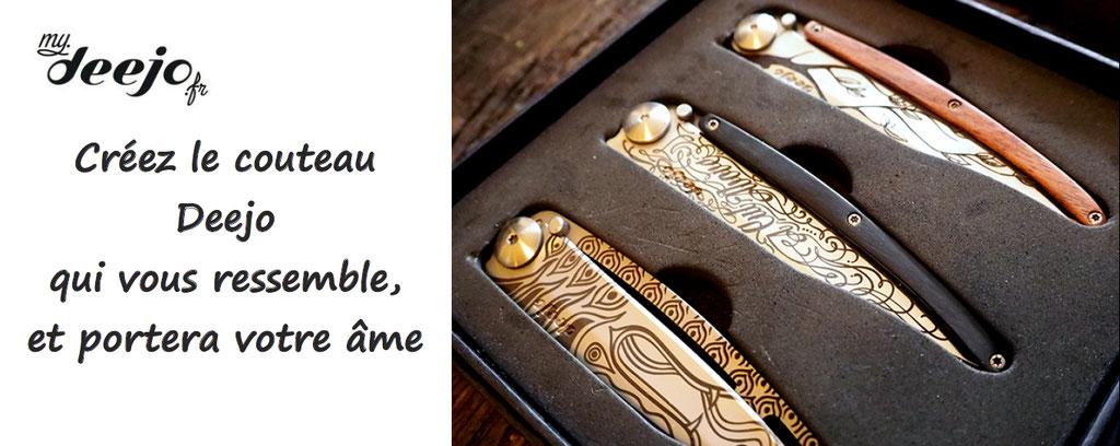 Personnalisation de couteaux Deejo : lame, manches, des créations originales et sublimes pour un cadeau unique et original
