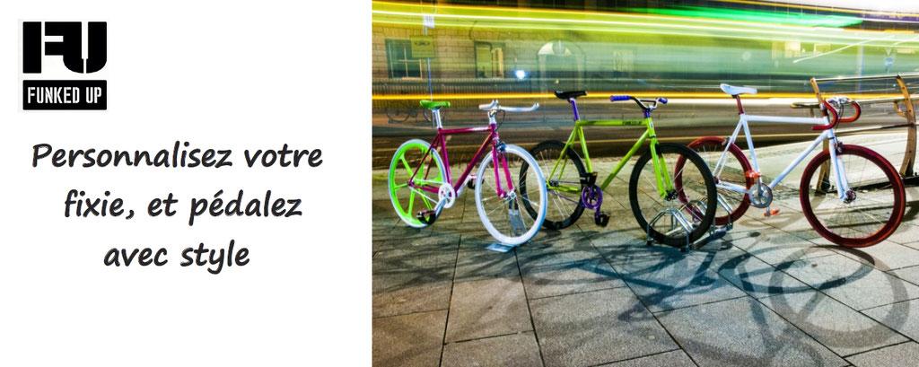 Personnalisation de vélos fixies plusieurs tailles, plusieurs couleurs, plusieurs millions de combinaisons possibles