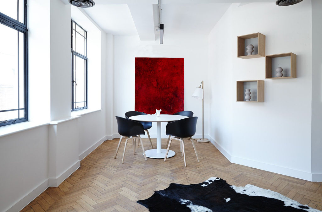 Bild abstrakt rot groß