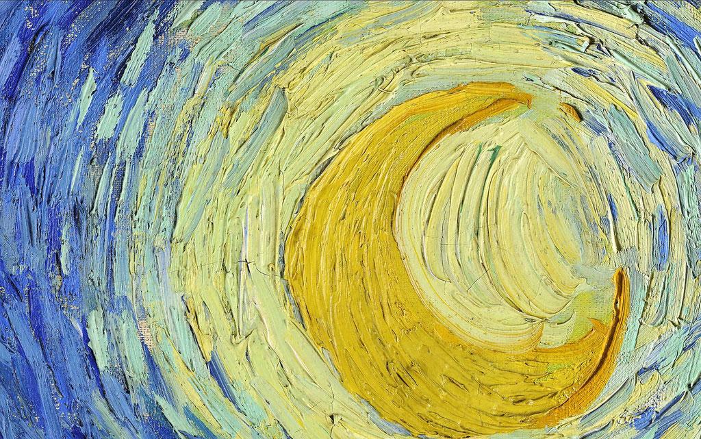 Van Gogh, nuit étoilée - extrait la lune