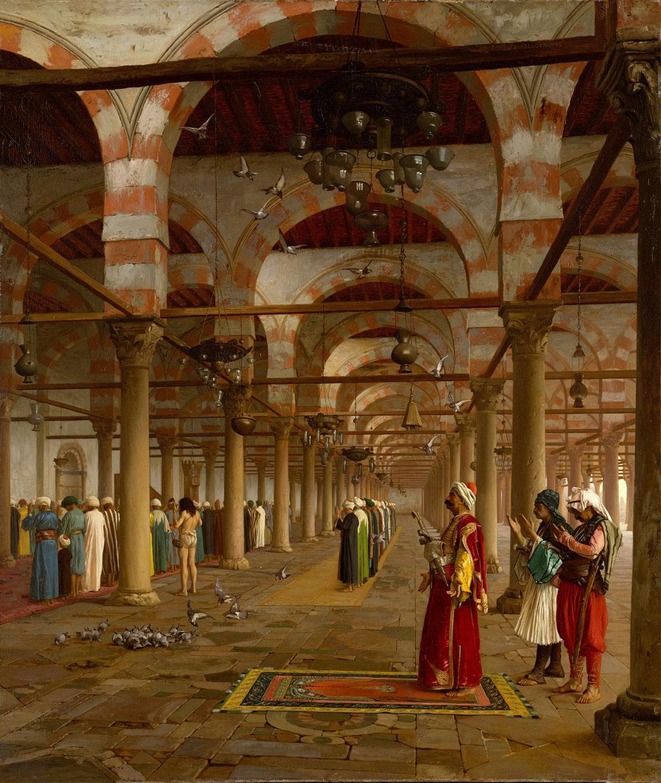 Gérôme, pière publique à la mosquée du Caire