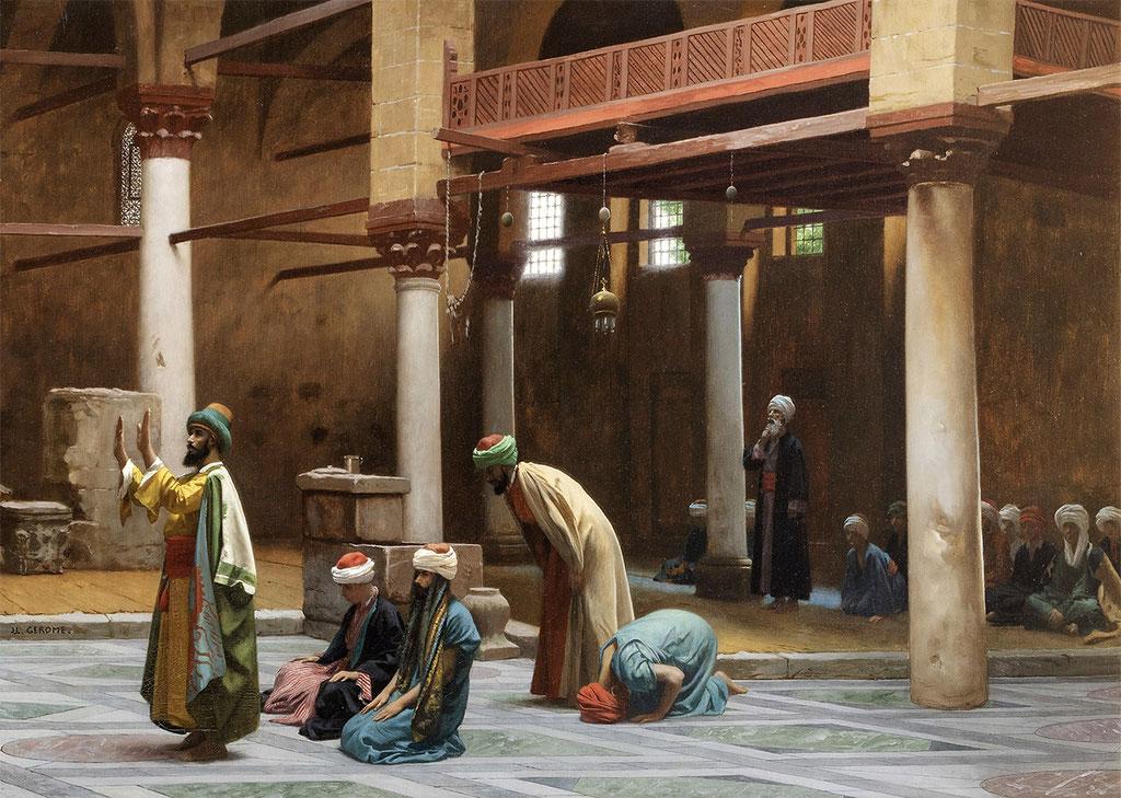 Gérôme, pière à la mosquée