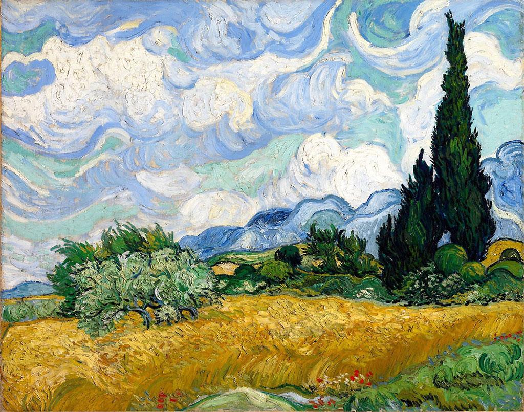 Van Gogh, le champ de blé