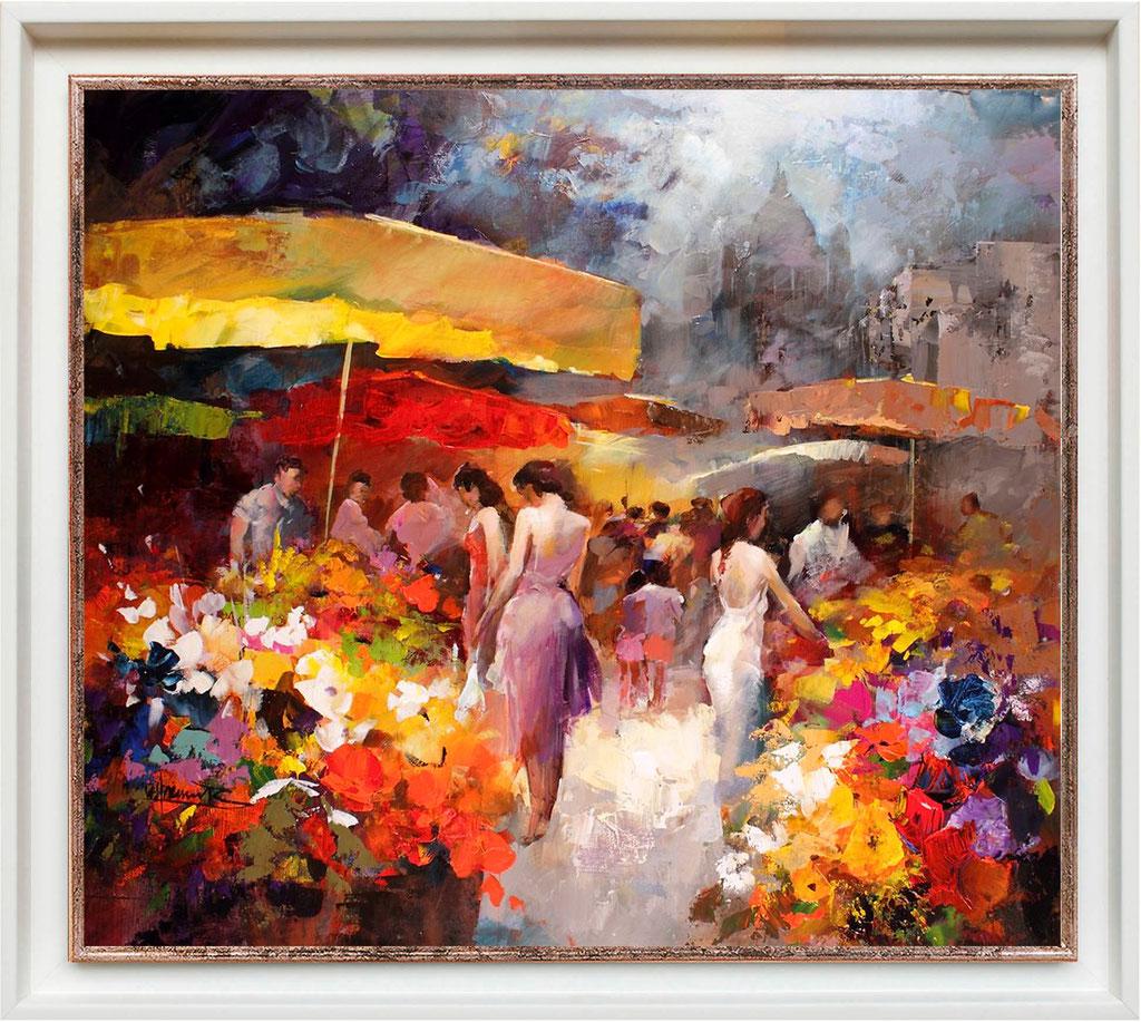 Haenraets, marché aux fleurs